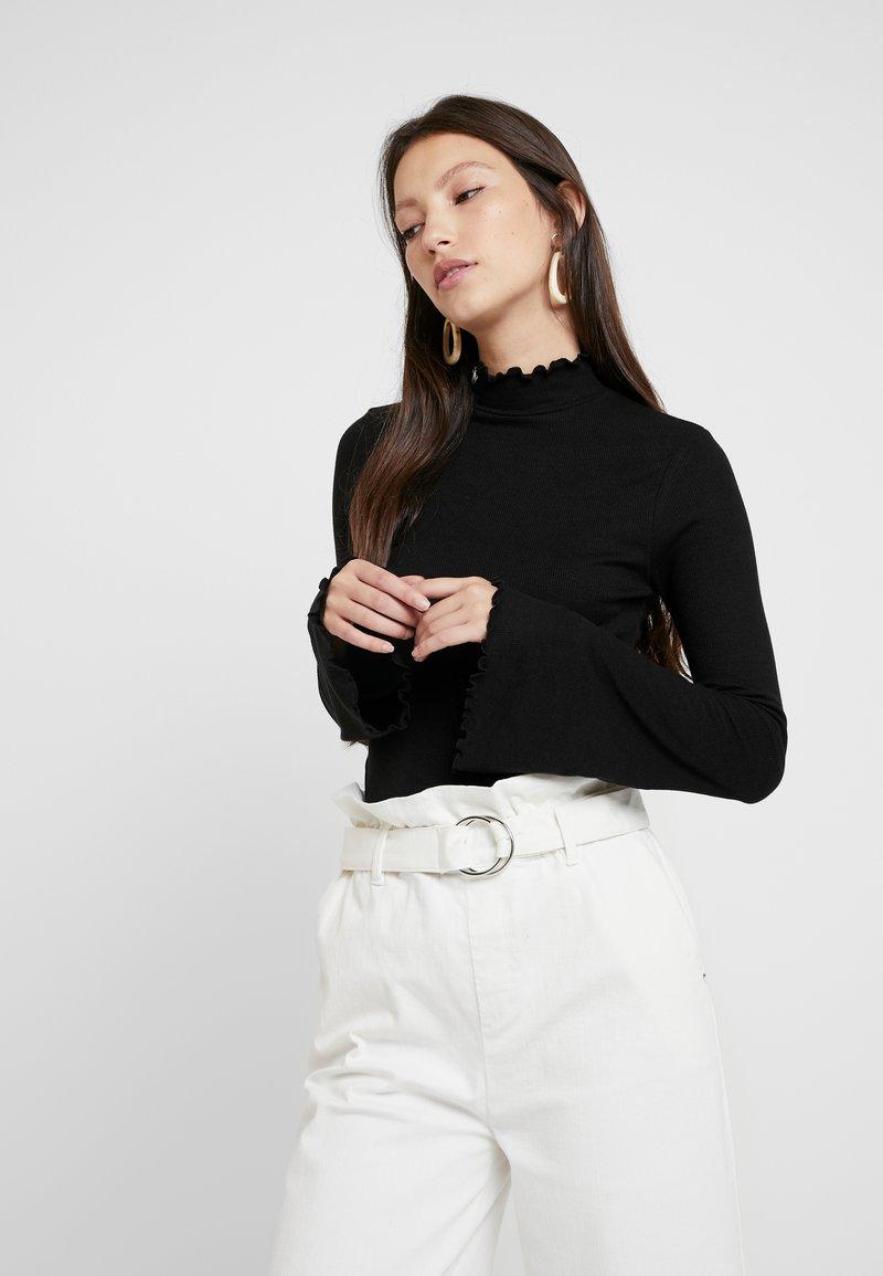 NA-KD - HANNA WEIG HIGH NECK - Longsleeve - black