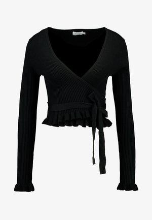 HANNA WEIG TIED  - Bluzka z długim rękawem - black