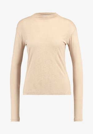HIGH NECK BASIC - T-shirt à manches longues - beige
