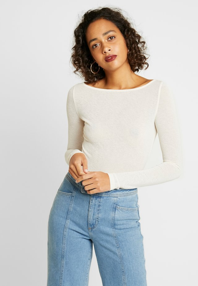 BOAT NECK - Long sleeved top - off white