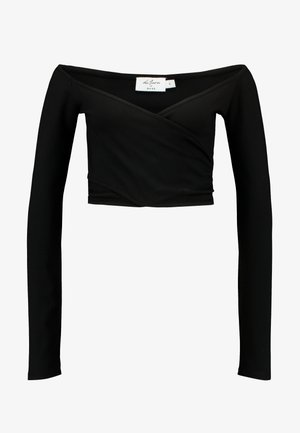 DILARA x NA-KD OFF SHOULDER WRAP - Longsleeve - black