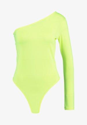 ONE SHOULDER BODYSUIT - Longsleeve - neon yellow