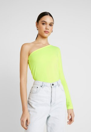 ONE SHOULDER BODYSUIT - Camiseta de manga larga - neon yellow