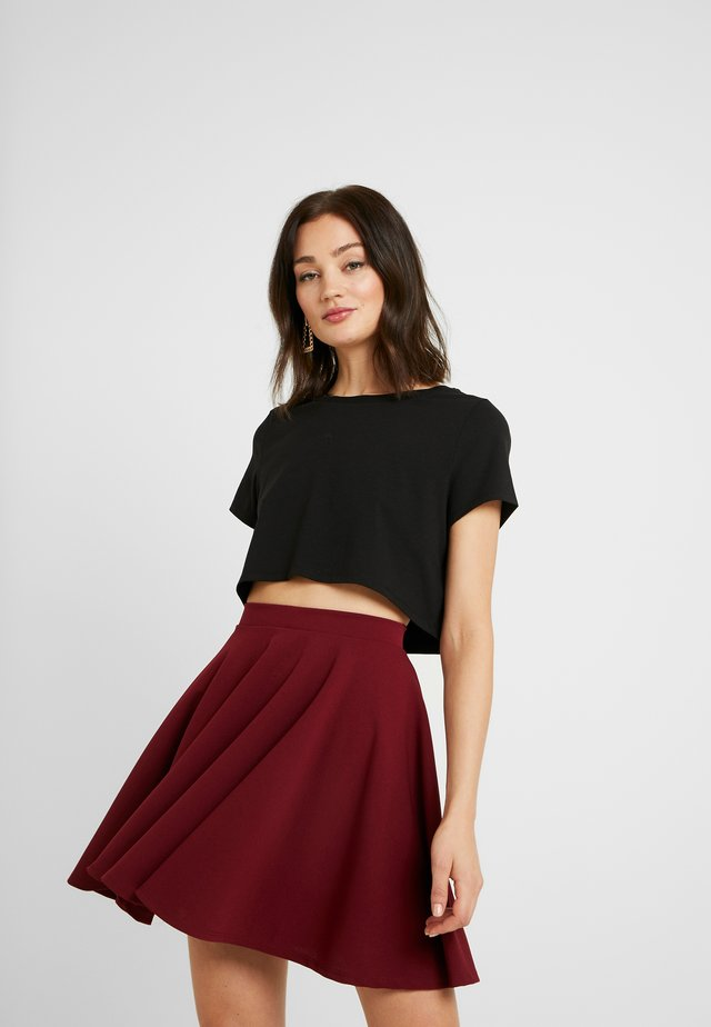 Pamela Reif x NA-KD RAW HEM CROPPED - T-Shirt basic - black