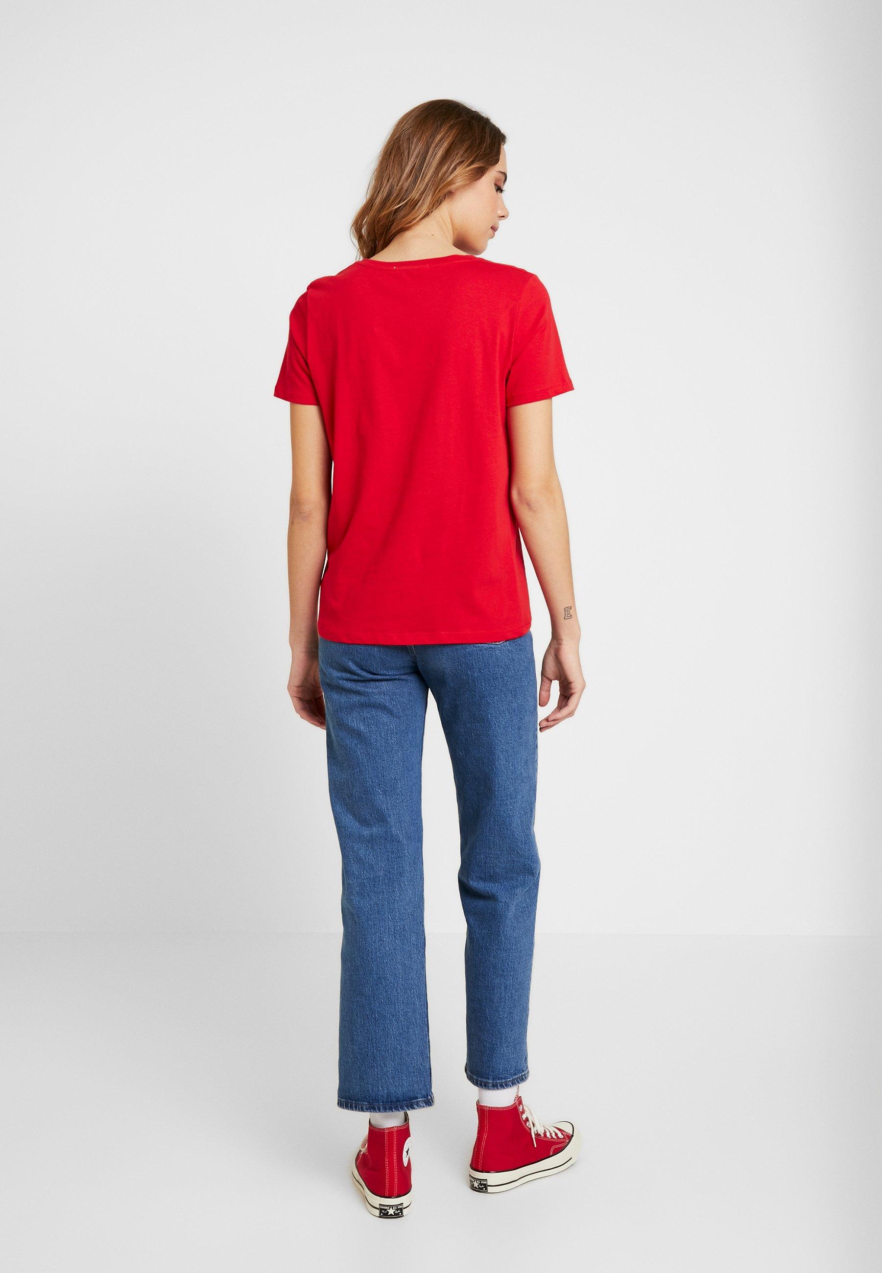 Na-kd Basic Tee - Print T-shirt Red