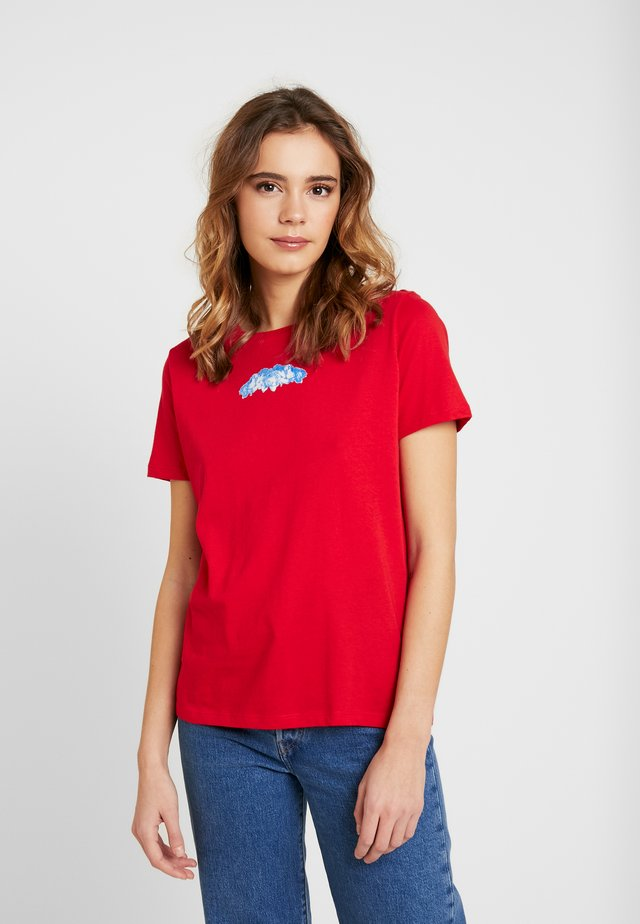 BASIC TEE - Print T-shirt - red