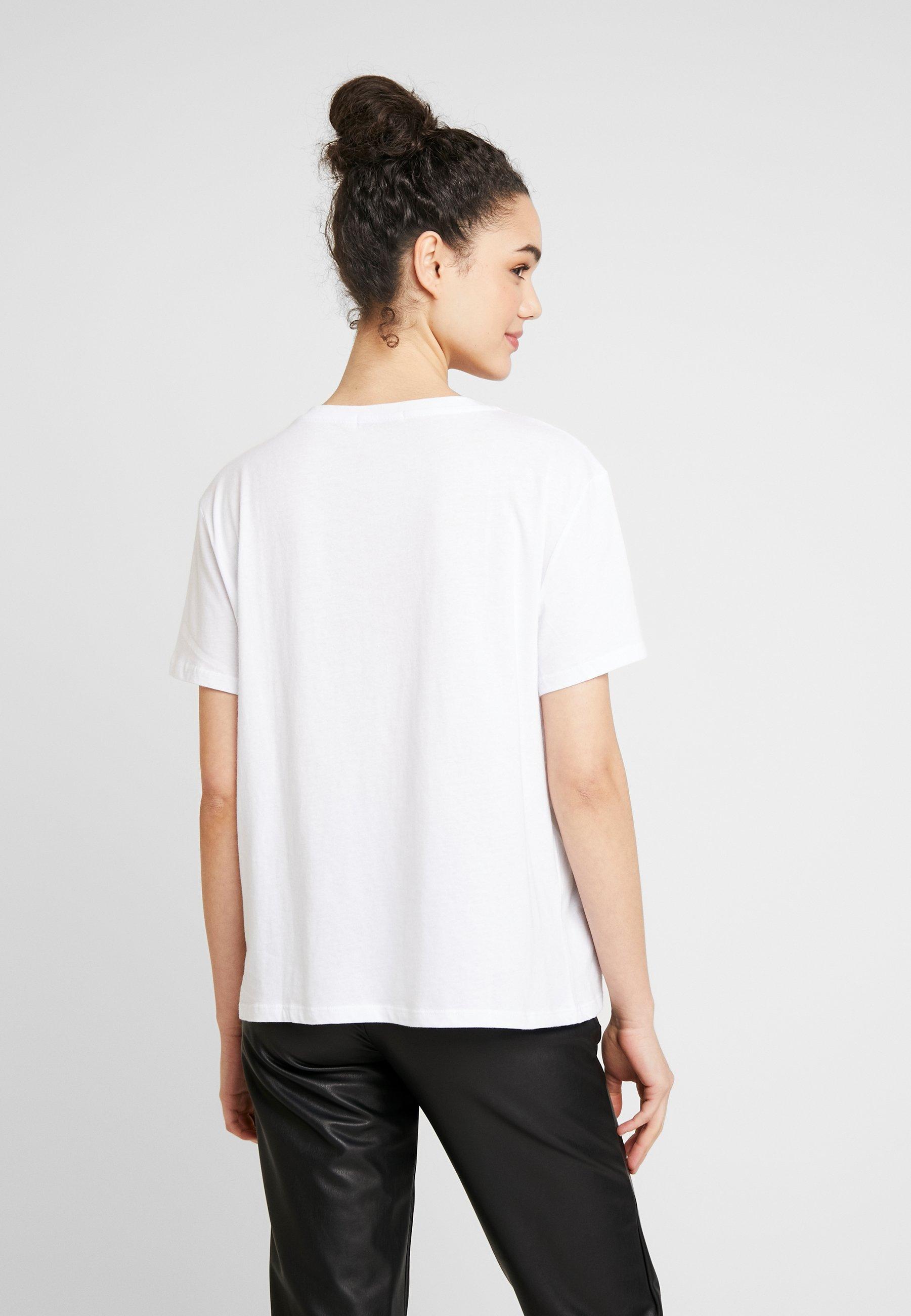NA-KD SPIRITUALITY OVERSIZED TEE - T-shirts med print - white