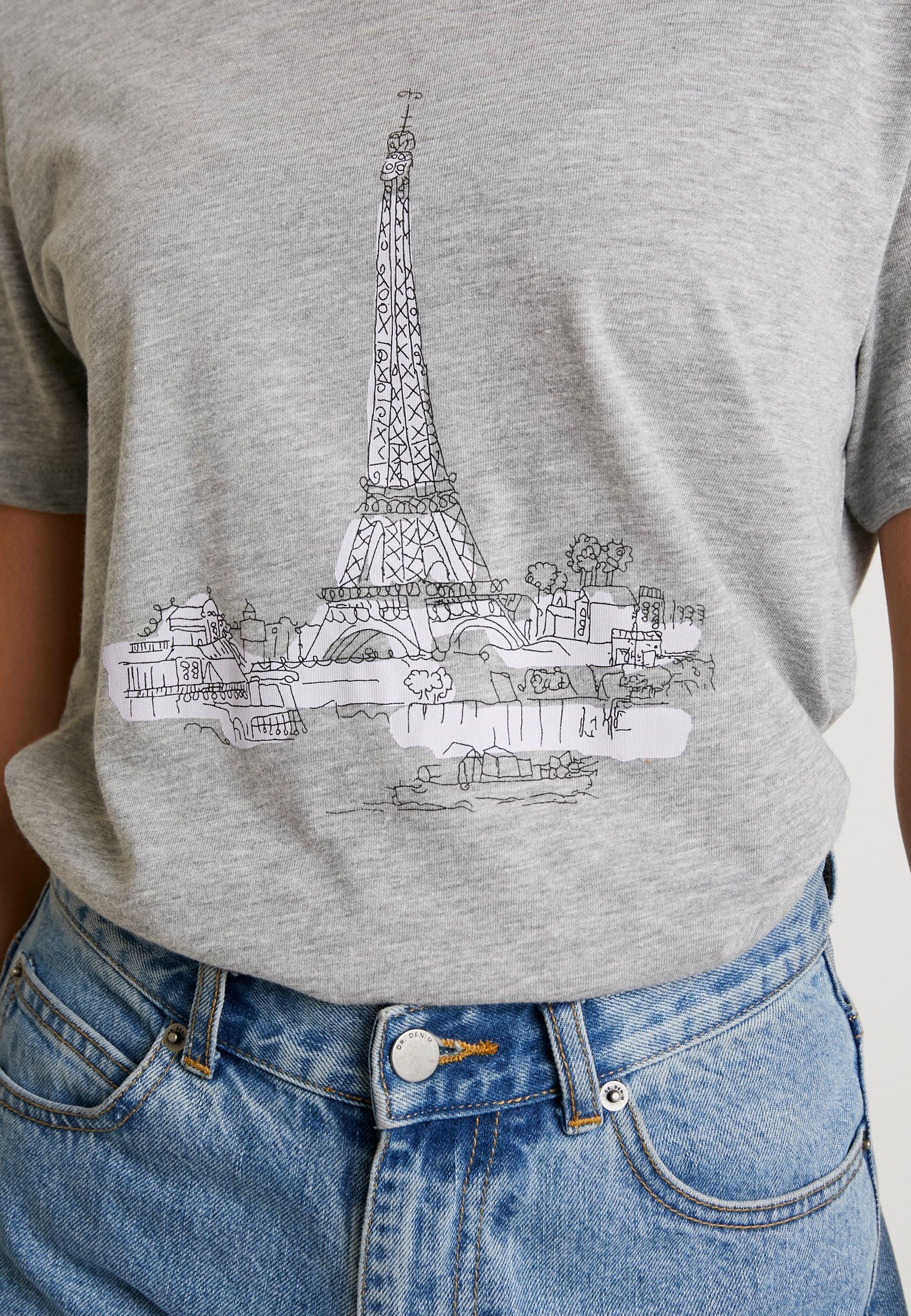 NA-KD SPIRITUALITY OVERSIZED TEE - T-shirts med print - grey