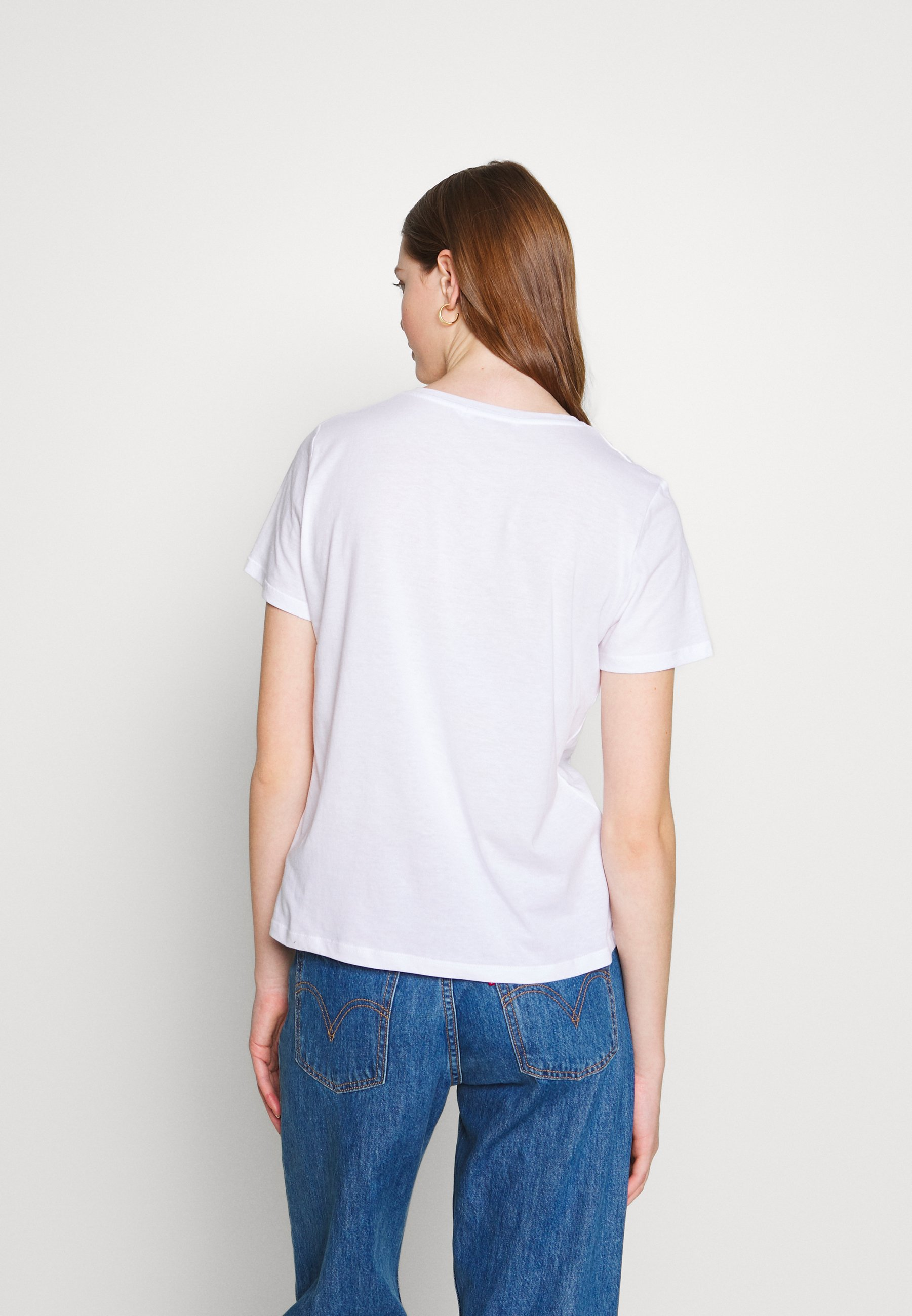 NA-KD ART BASIC TEE - T-shirts med print - white