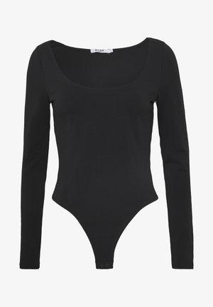 ROUND NECK - Bluzka z długim rękawem - black