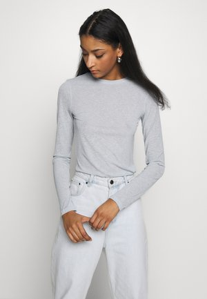 SHEER LONG SLEEVE - Long sleeved top - light blue