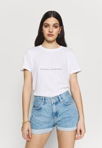 NA-KD - MY OBSESSION TEE - T-shirts med print - white - 0