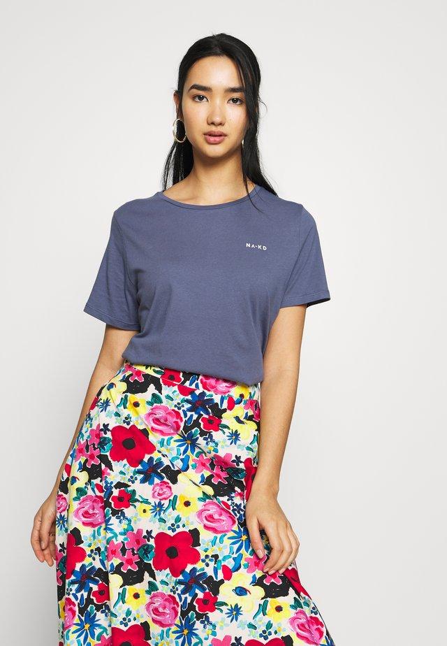LOGO BASIC TEE - T-Shirt print - dusty midnight blue