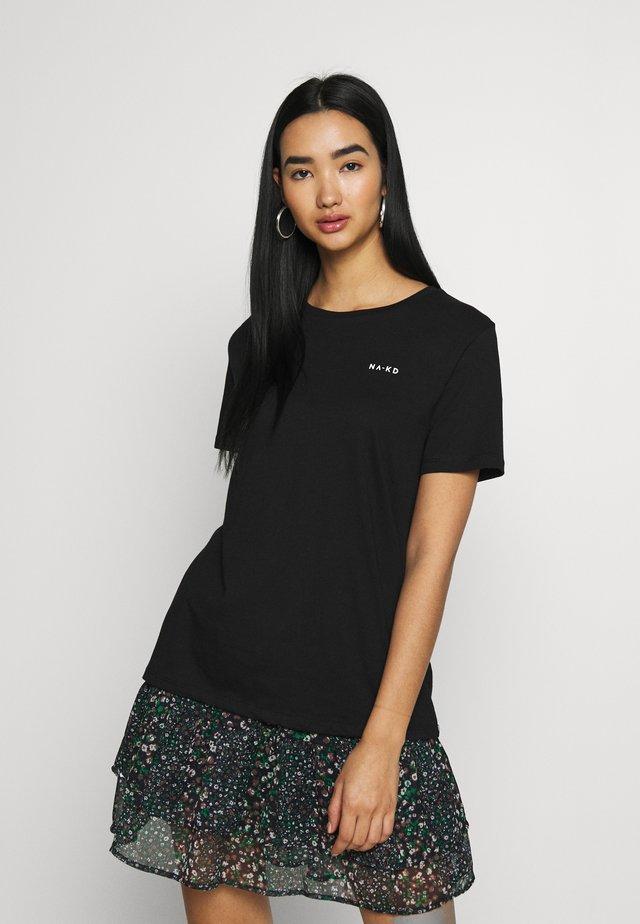 LOGO BASIC TEE - T-shirt print - black