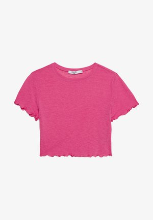 BABYLOCK CROP - Camiseta básica - hot pink