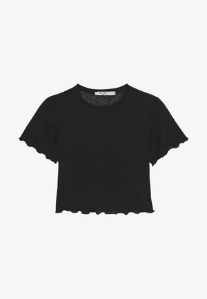 BABYLOCK CROP - T-shirts - black