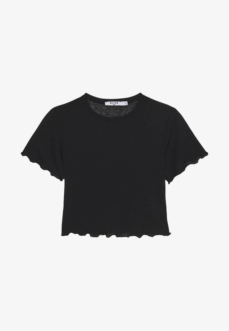 NA-KD - BABYLOCK CROP - T-shirt - bas - black