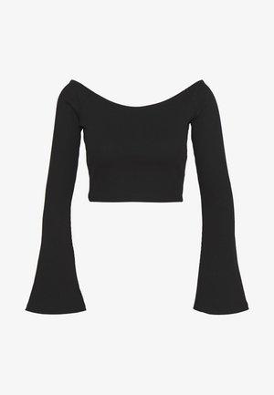 HANNA SCHÖNBERG  X NA-KD - Top sdlouhým rukávem - black