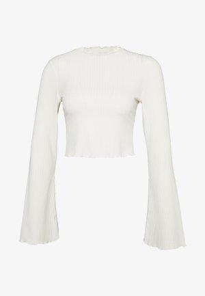 TRUMPET SLEEVE - Bluzka z długim rękawem - offwhite