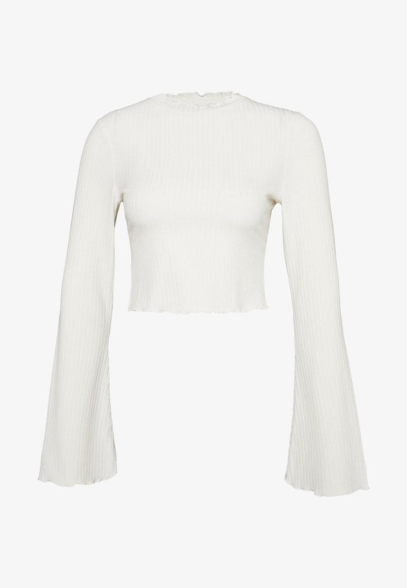 NA-KD - TRUMPET SLEEVE - T-shirt à manches longues - offwhite