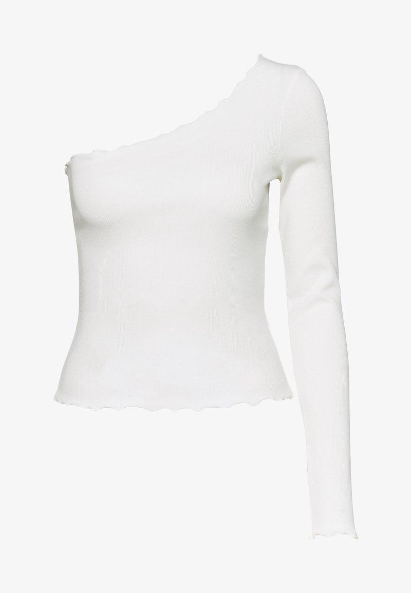NA-KD - ONE SHOULDER BABY LOCK - Topper langermet - white