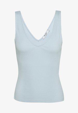 V-NECK - Top - dusty blue