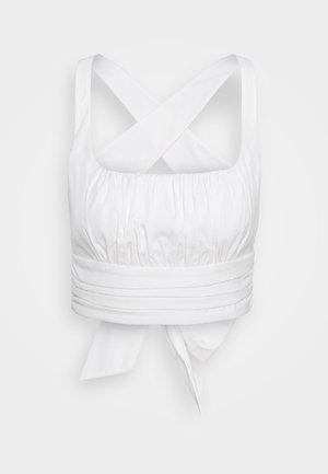 CROSS BACK - Blouse - off-white