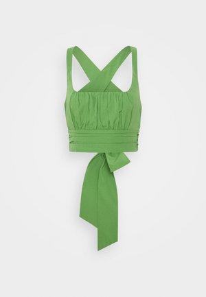 CROSS BACK - Bluse - green
