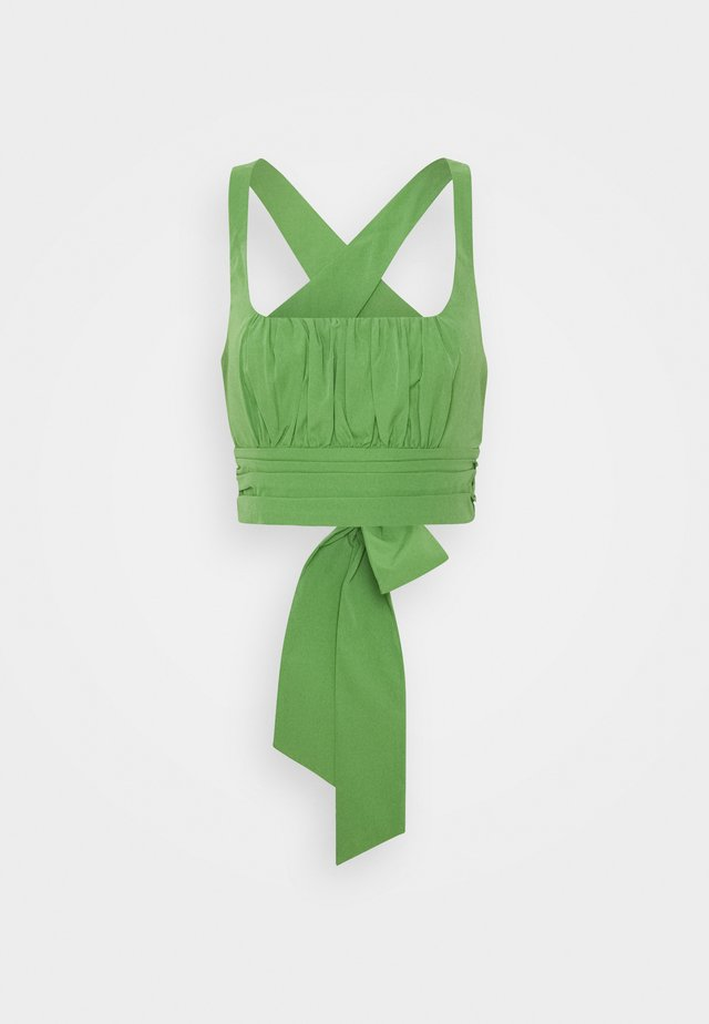 CROSS BACK - Blouse - green