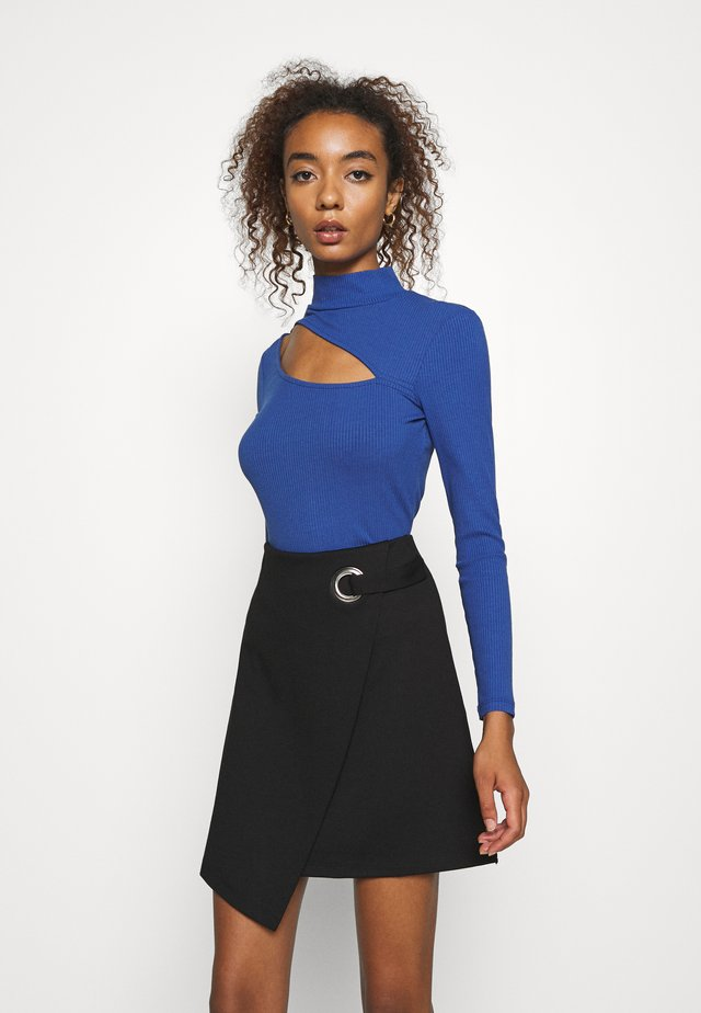 CUT OUT - Long sleeved top - blue