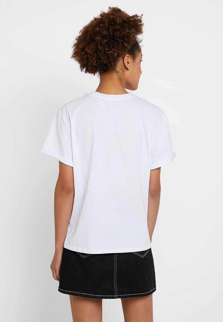 Zalando Imprimé kd black Women's Roll SleeveT White Day