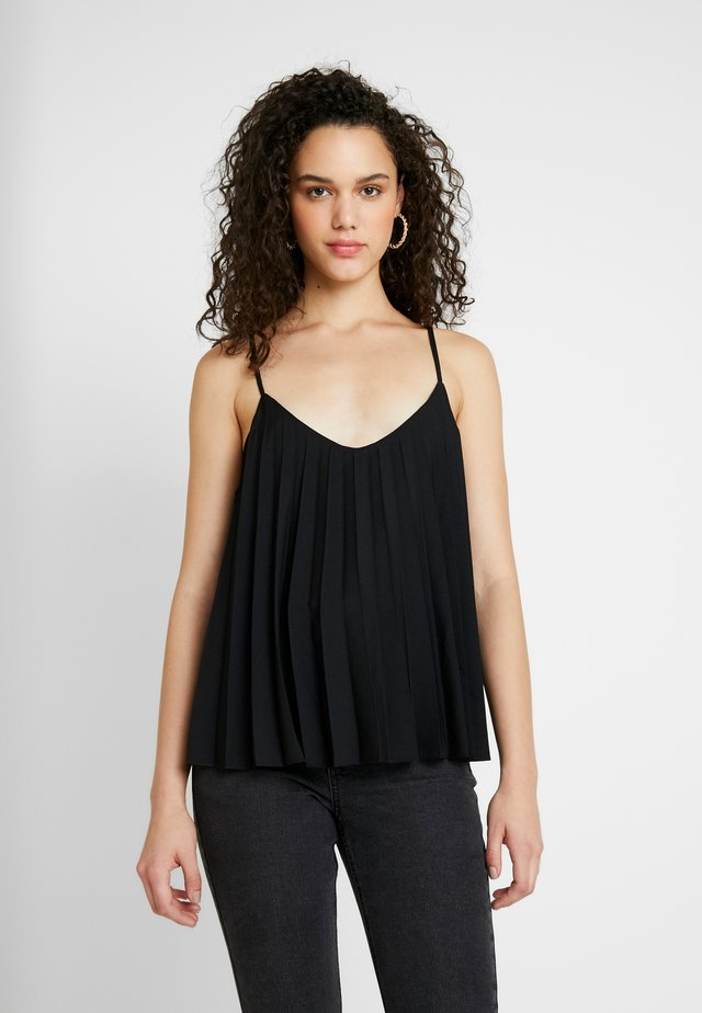 PLEATED CAMI - Top - black