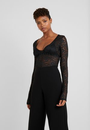 ADORABLE CARO LONG SLEEVE BODY - Blus - black