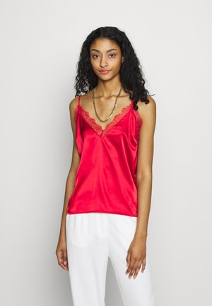 PLAIN SINGLET - Top - red