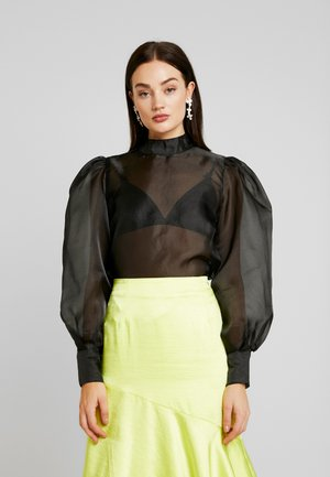 VOLUME SLEEVE BLOUSE - Blůza - black