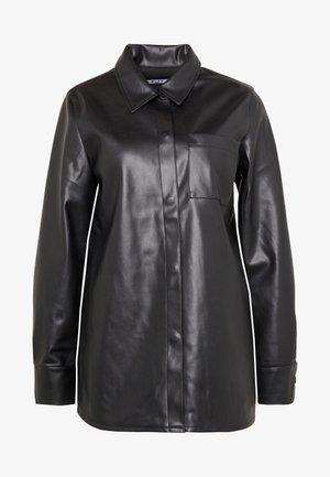 POCKET SHIRT - Button-down blouse - black