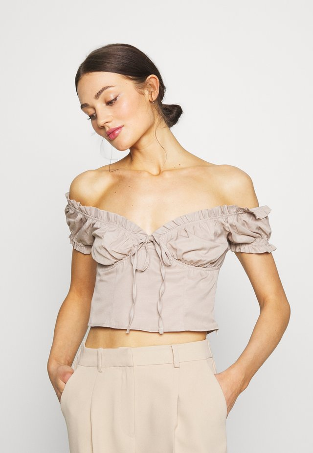 OFF SHOULDER CUP - Svetr - light beige
