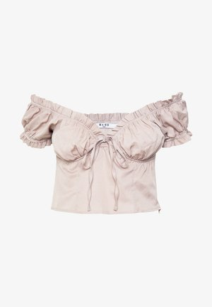 OFF SHOULDER CUP - Strikkegenser - light beige