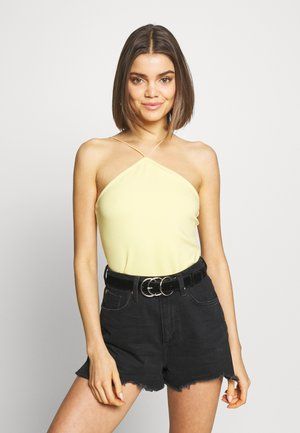 BODYCON TOP - Top - yellow