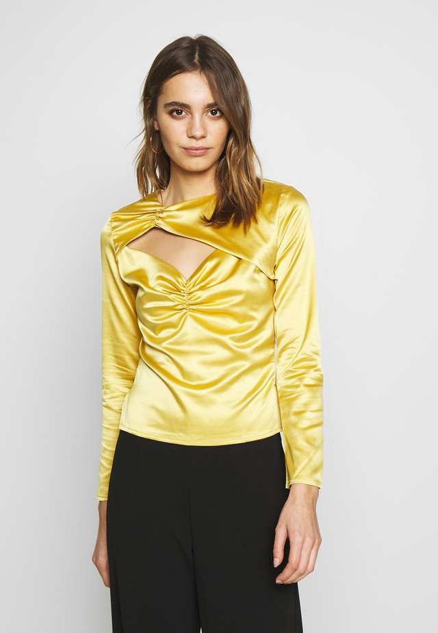 CUT OUT LONG SLEEVE - Bluzka - yellow