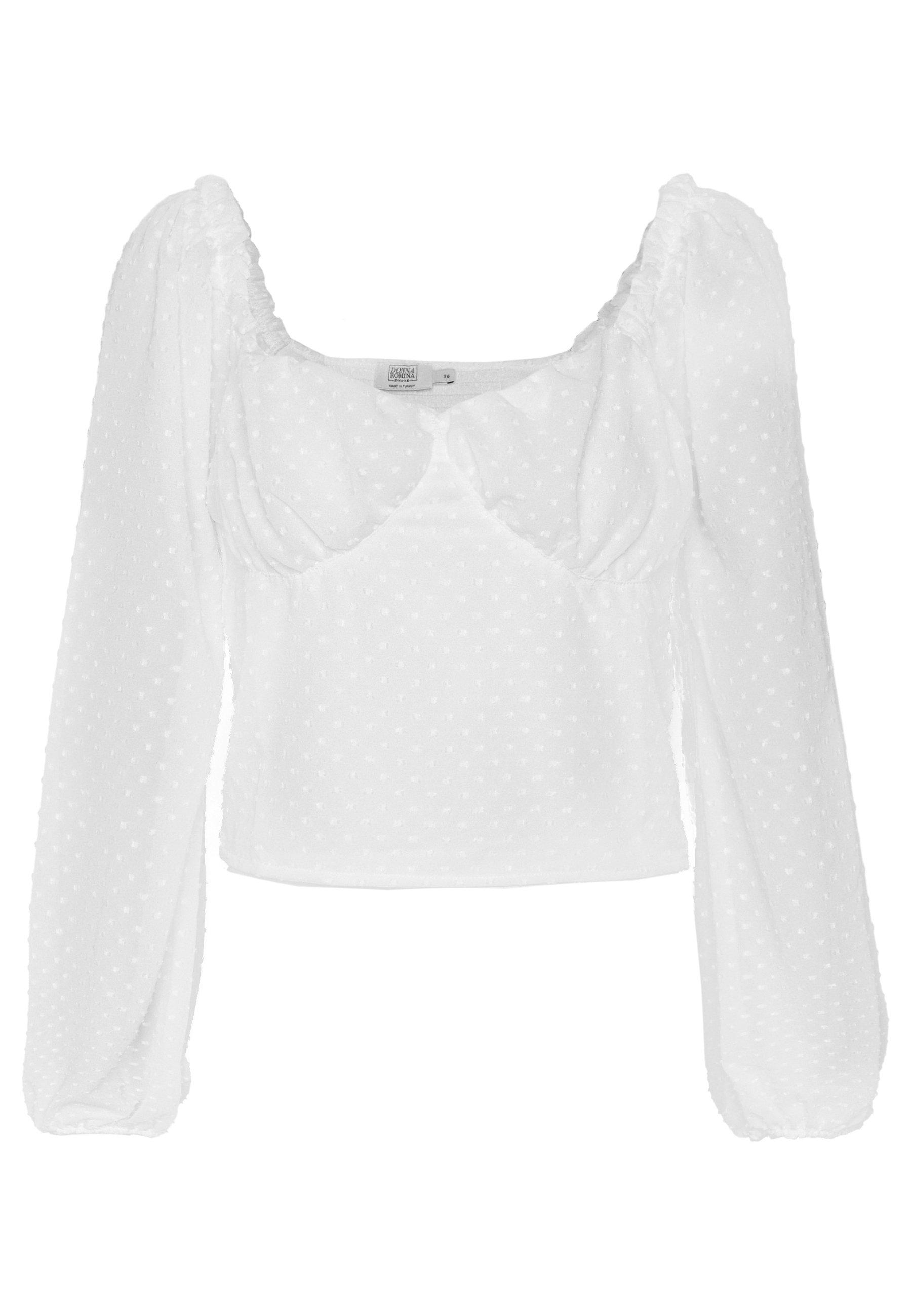 NA-KD Donna Romina x NA-KD - Bluzka - white