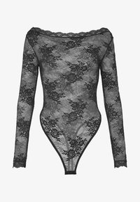 NA-KD - FLOWER BODY - Pusero - black - 4