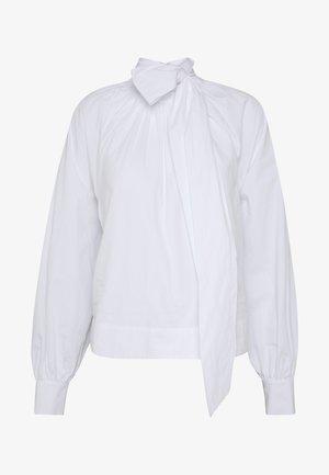 BALLOON SLEEVE BOW BOXY BLOUSE - Blouse - optical white
