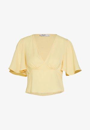 ZALANDO X NA-KD V-NECK FLOWY BLOUSE - Blusa - yellow