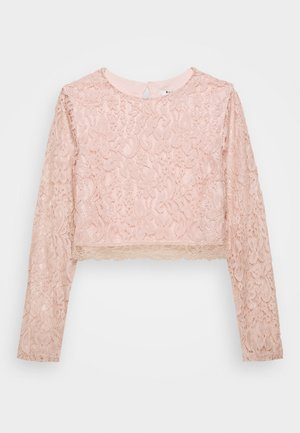 ZALANDO X NA-KD LONG SLEEVE LACE TOP - Bluser - dusty pink