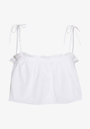 CROPPED FRILL DETAIL - Top - white