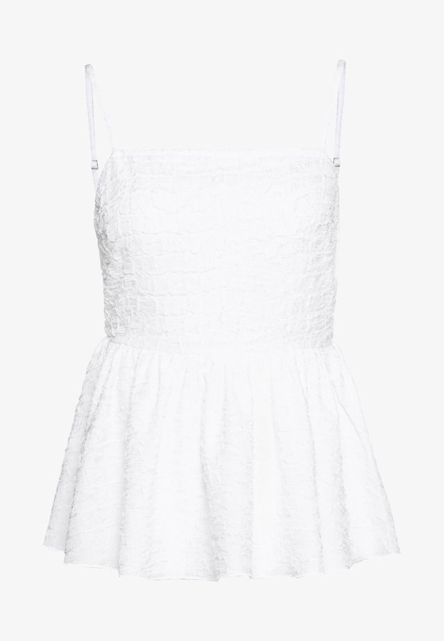 OPEN BACK STRUCTURED TOP - Pusero - white