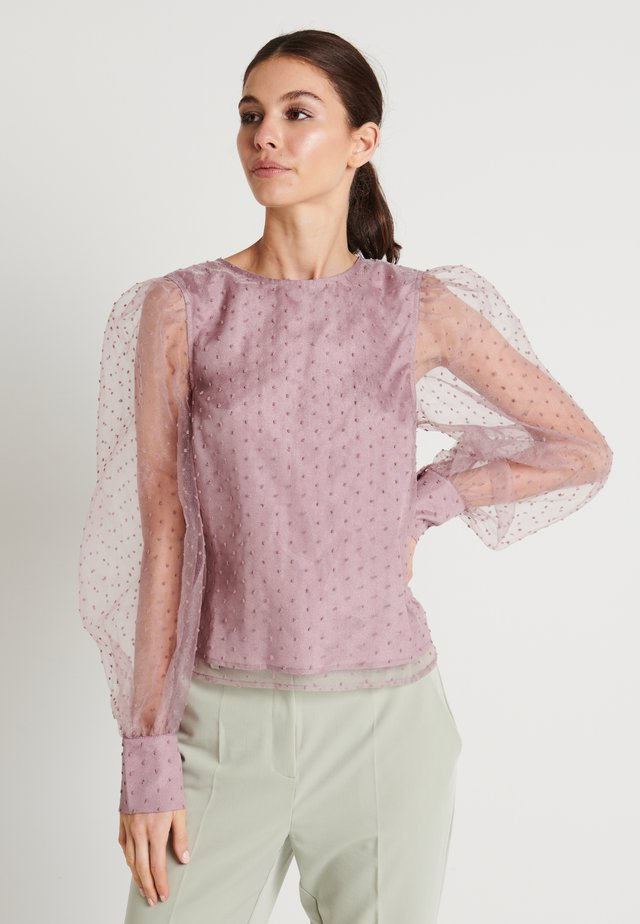 ZALANDO X NA-KD PUFFY SLEEVE BLOUSE - Bluzka - dusty lilac