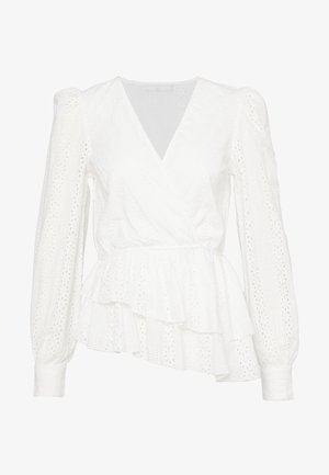 CROCHET WRAP - Blus - white
