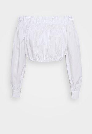 GATHERED BLOUSE - Bluser - white